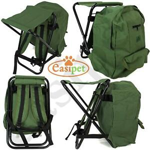 Fishing Tackle Stool Backpack Seat Bag Camping Hiking Rucksack Chair Easipet