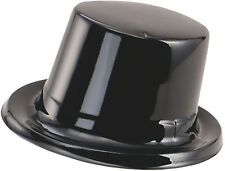 Unisex Adult Fancy Club Party Accessory Disco Style Toppers Plastic Hat Black UK