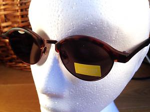 Ladies Half Metal Frame Tortoiseshell Grey Tint Lens CE Sunglasses UV400 SS50