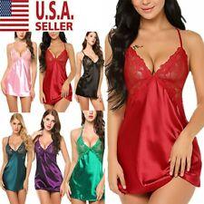 Women Lingerie Underwear Lace Robe Dress Babydoll Sleepwear Nightgown Nightdress