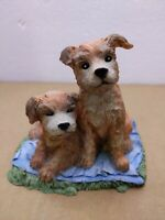 """Cute Pair of dog 1991! TOM RUBEL!  SILVER DEER'S ARK!  5"""" TALL! Very unique rare"""