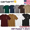 Carhartt K87 Mens T-shirt WorkWear Pocket Basic Heavyweight Jersey Original Fit