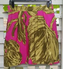 GORGEOUS MILLY OF NEW YORK HIBISCUS PATTERN SILK SKIRT SZ 10, NWT