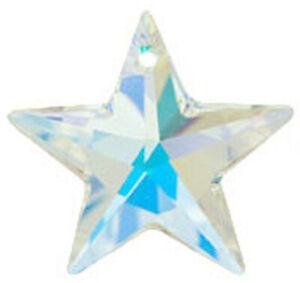 ONE SWAROVSKI CRYSTAL GLASS STAR PENDANT 6714, CRYSTAL AB, 20 MM, XMAS