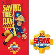 Officiel Fireman Sam Économie la Journée Serviette Doux en coton 70cm x 140cm
