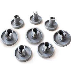 8 Pieces Dishwasher Lower Bottom Basket Wheels For Dishlex DX102SK  DX103WK