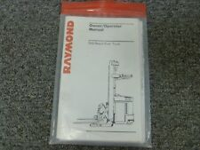 Raymond Model EASi Reach Forklift Truck Owner Operator Maintenance Manual