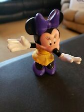 Minnie Mouse Yellow Dress Purple Shoes Bow Disney Figure Mickey Figure PVC 3 in