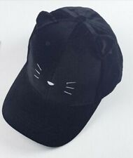 Women's Pussycat Baseball Hat with cat ears/Black