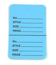 """300 BLUE Large (2.75""""x1.75"""")Perforated Unstrung Price Consignment Store Tags"""