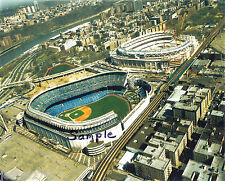 YANKEE STADIUM 3 AERIAL PHOTOS TRANSITION OLD TO NEW Free Ship!