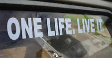 GIANT (546mmx145mm) ONE LIFE. LIVE IT. Sticker for Landrover Defender Disco 4x4