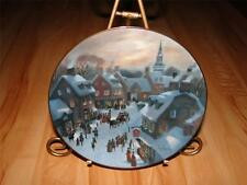 """Christmas Eve"" Scenes Of Christmas Past by Lloyd Garrison Plate"