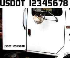 """23""""x2"""" US DOT # USDOT VIN NUMBER ICC MC EW GW vinyl Decal Sticker Id truck semi"""