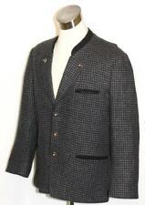 """BLACK TWEED ~ WOOL ~ Men German Hunting Shooting Sport Dress Suit JACKET / 45"""" L"""
