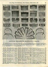 1910 ADVERTISEMENT Hair Back Side Carved Comb Combs Barrettes Bandeaux