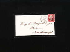 Great Britain Victoria Mourning Cover 1868 Penny Red Plate # 98 æ