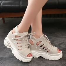 New Womens Summer Sport Sandals Platform Wedges High Heels Ankle Boots Shoes Sz