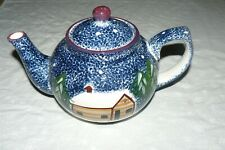 Cook's Bazaar Gourmet Holly Mountain Lodge Log Cabin in the Snow Teapot