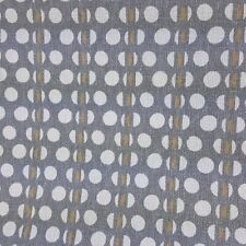 Gray and White Pattern Fabric Cotton Polka Dots Contemporary Modern