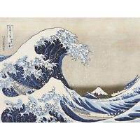 Hokusai Under Wave Kanagawa 36 Views Mount Fuji Painting Extra Large Art Poster
