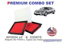 2x AIR FILTER + 1 CABIN AIR FILTER COMBO SET FIT INFINITI G37 EX37 G25