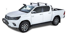 Rhino Pair of Vortex Roof Racks for TOYOTA Hilux 4dr Ute Dual Cab 2015 On Black