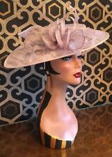 Pale Silver Grey Sinamay Hatinator Fascinator Wedding Special Occasion Races