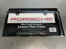 Genuine Porsche Black Stainless Steel License plate frame PNA70200500