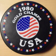 1980  USA  HOCKEY OLYMPIC  PUCK  LAKE  PLACID
