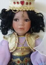 Little Princess Arabian Nights Porcelian Doll Artist Linda Steele Jeweled Boxed
