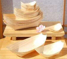 x 50  Bambooo Wooden Food  Serving  Boats  14 x 7.7 cm Canape Wood Finger Party