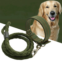 Large Extra Big Dog Leash and Collar Strong Nylon Rope Heavy Duty Dog Harness