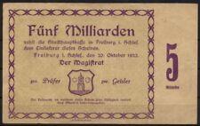 [15735] - Notgeld FREIBURG i. SCHLESIEN (heute: Świebodzice), Stadt, 5 Mrd Mk, 2
