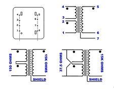 2 CUSTOMER FAVORITE SUT TRANSFORMERS  JENSEN OR V&F. 150 OR 38 ohm TO 15K ohm