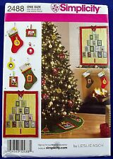Simplicity Christmas Card/Photo Frame Decorations Sewing Pattern Stocking Quilt