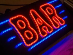 Retro Style Neon Style Illuminated Wall Hanging Sign 47cm long x  3cm UK Plug