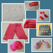 """AMERICAN GIRL """"FASHION SHOW"""" TOP - CARGO PANTS - HAT - SNEAKERS - NEW IN BOX"""