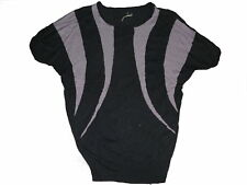 Vero Moda tolles Strickk Shirt / Oberteil / Longshirt Gr. S / M schwarz-lila !!