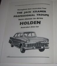 JACK KRAMER WORLD CHAMPIONSHIP TENNIS PROGRAMME 1961/62-HOLDEN EK ADVERT