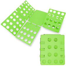 GREEN Adjustable Clothes Folder Board T-Shirt Flip Fold Closet Laundry Organizer