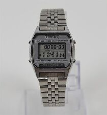 Vintage Seiko Alarm Chronograph LCD Digital A904-5199 Stainless Steel Mens Watch