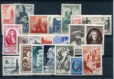 1947.FRANCIA.AÑO COMPLETO.YVERT 772/92*.NUEVOS LEVE FIJASELLOS(MH).CATALOGO 21€