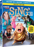 Sing [New Blu-ray 3D] With Blu-Ray, Special Edition, Digitally Mastered In Hd,