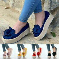 Women's Casual Comfort Flat Platform Slip On Sneakers Pump Loafers Shoes Fashion