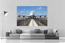 Airbus A380 Avion plane Wall Poster Grand format A0 Large Print