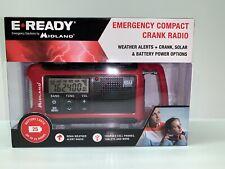 Emergency Flashlight Solar/Crank Power Travel Weather Alert Radio w/ USB Charger