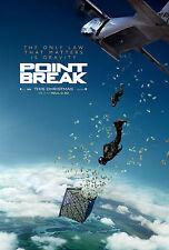 Point Break (2015) zweiseitig Original Kinofilm Plakat Advance Remake Money