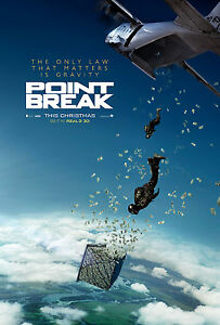 Point Break (2015) double sided ORIGINAL MOVIE film POSTER Advance Remake Money