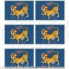 FORMOSA Flag Taiwan Republic of China Cell Phone Mobile Mini Decals, Stickers x6